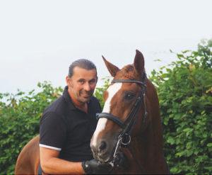Horst Becker mit Pferd